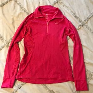 Hot Pink Adidas Dry Fit Workout Long Sleeve